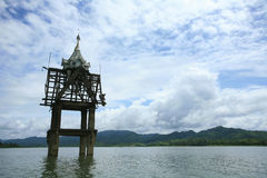 Small Chedi in the river Royalty Free Stock Images