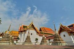 Small chedis in Wat Pho. Bangkok. Thailand Royalty Free Stock Images