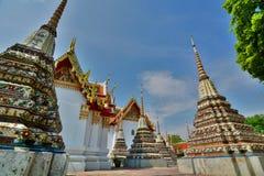 Small chedis in Wat Pho. Bangkok. Thailand Stock Photo