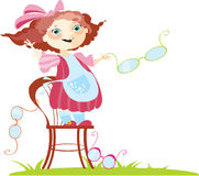 Small cheerful girl Royalty Free Stock Photo