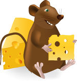 Small cheerful mouse Stock Photos