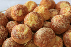 Small cheese bread. Plate with small cheese breads Stock Image