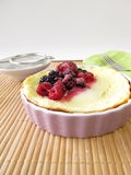 Small cheese cake without soil Stock Photos