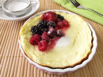 Small cheese cake without soil Royalty Free Stock Photography