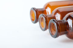 Small chemical glass bottles Stock Photo