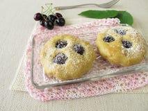 Small cherry cakes Stock Photo