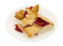 Small cherry pie pieces on plate Royalty Free Stock Photography
