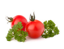 Small cherry tomato and parsley spice Stock Photography