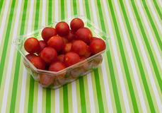 Small cherry tomatoes from supermarket Stock Photo