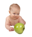 Small child and apple Royalty Free Stock Photography
