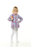 Small child with apple. Stock Photos