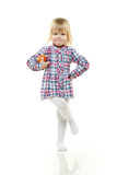 Small child with apple. Stock Image