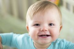 Small child, baby. Happy emotions royalty free stock photo