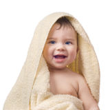 The small child after bathing Stock Images