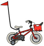 Small child bike. Hand drawing of a red small child bike Stock Photo