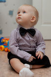 Small child with bow tie Stock Photo