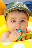 Small child in a cap Royalty Free Stock Photo