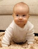 Small child on carpet Royalty Free Stock Photo