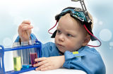Small child - the chemist Stock Images