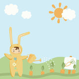 Small Child in Costume. Small Child in Bunny Costume Stock Images
