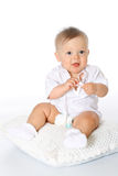 Small child in a diaper Stock Photos