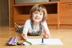 Small child draws royalty free stock photos
