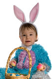 A small child in dress bunny Stock Photo