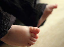 Small child feet Stock Photography