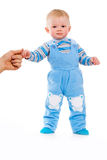 A small child and first steps royalty free stock images