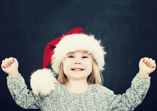 Small Child Girl Having Fun. Christmas Portrait Stock Photography
