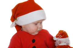 Small child in Nicolaus cap Stock Photo