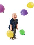 The small child plays with balls Royalty Free Stock Photo
