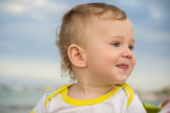 Small child with redness on the skin Stock Images
