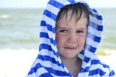 Small child with redness on the skin, suffering from food allergies. Stock Photo