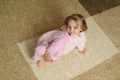 Small Child on Rug Royalty Free Stock Photo