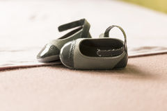 Small child shoes Stock Photos