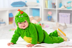 The small child in a suit of a dragon Royalty Free Stock Photo