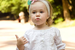 Small child to spend the weekend at the park Royalty Free Stock Images