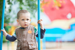 Small child on a walk Royalty Free Stock Photography