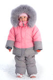 Small child wearing in winter clothing Royalty Free Stock Photos