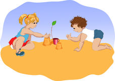 Small children Royalty Free Stock Photography