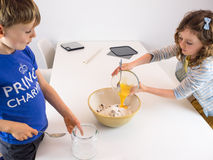 Small children baking Royalty Free Stock Images
