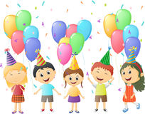 Small children at birthday party Royalty Free Stock Photos