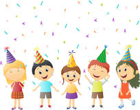 Small children at birthday party Stock Images