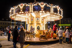 Small children carousel Royalty Free Stock Images