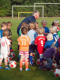 Small children at football training Royalty Free Stock Photos