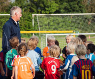 Small children at football training Stock Photography