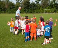 Small children at football training Stock Photo