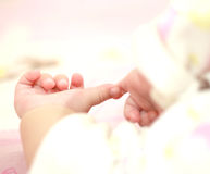 Small children handful clean Royalty Free Stock Image