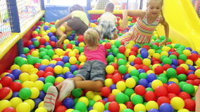 Small children playing together stock footage